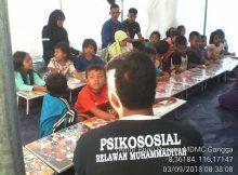 Relawan Muhammaiyah menjadi tenaga pengajar di gempa lombok
