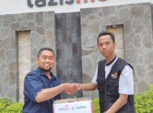 Karang Taruna PAMOR Sendangtirto, Berbah Sleman bersama Lazismu penyerahan Donasi Palu